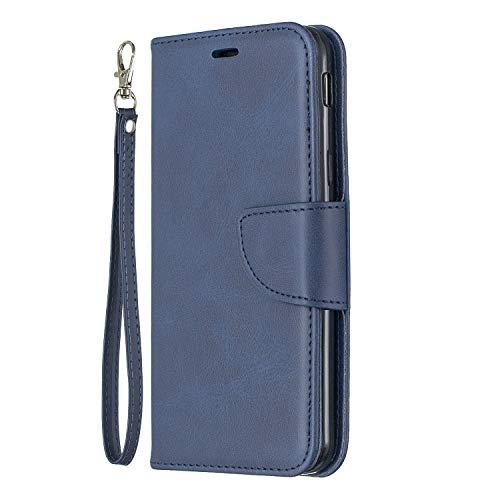 DENDICO Coque Galaxy A70 Coque Etui Housse pour Samsung Galaxy A70 Protection Portefeuille en Cuir avec Fonction Support et Emplacement de Cartes Gris