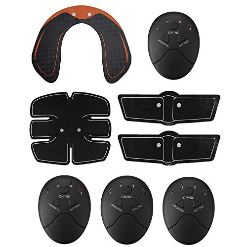 Electric Muscle Toner EMS Machine Wireless Toning Belt 6 ABS Fat Burner Butt New US Stock