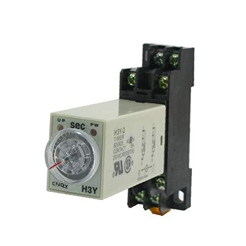 X-DREE Tiempo de retardo ajustable AC 110V DPDT 0-60 Seg. Relé temporizador de 8 pines AH3-3(Adjustable Delay Time AС 110_V DPDT 0-60 Sec 8-Pin Timer Relay AH3-3