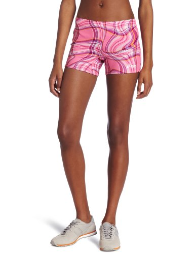 ASICS Damen Plaid Street Short, Damen, rosa/weiß, XX-Small
