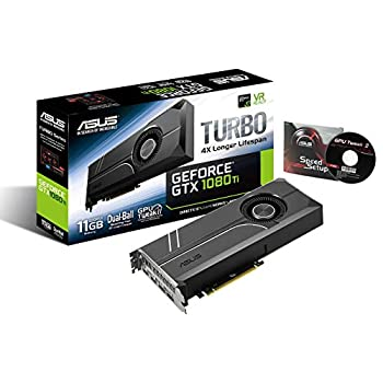 ASUS GeForce GTX 1080 TI 11GB Turbo Edition VR Ready 5K HD Gaming HDMI DisplayPort PC GDDR5X Graphics Card TURBO-GTX1080TI-11G  Renewed
