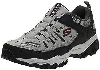 Skechers Sport Men s Afterburn Extra Wide Fit Wonted Loafer,gray/black,14 4E US