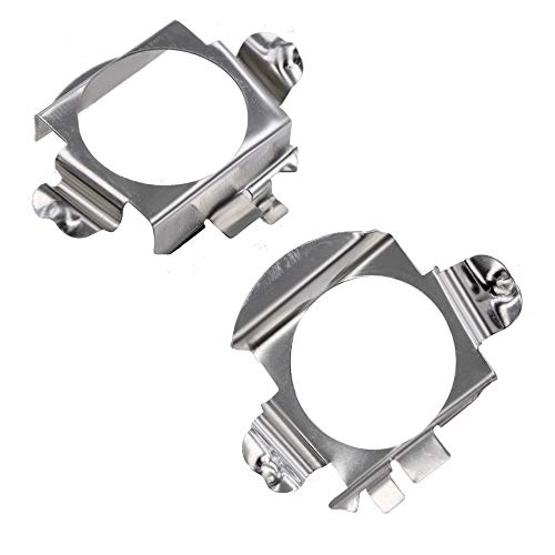 GZXY H7 LED Headlight Bulb Clips Holder Socket Adapter for Mercedes-Benz C300 C350 Sport CLS GL Ford Edge Installation 2pcs