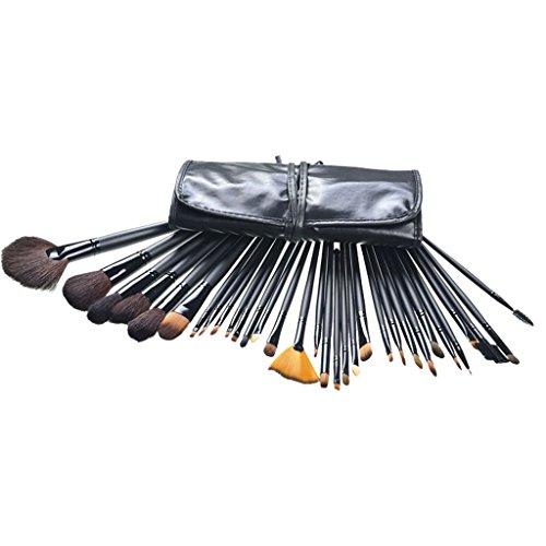 Contever 32 Stück Schmink Kosmetik Stiftung Makeup Tool Set Gesichtspinsel, Lidschattenpinsel,...