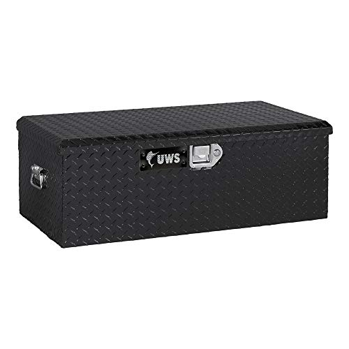 UWS EC20072 36-Inch Gloss Black Heavy-Wall Aluminum Foot Locker Tool Chest Storage Box, RigidCore Lid