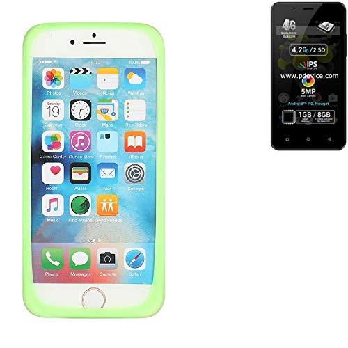 K-S-Trade® Für Allview P4 Pro Silikonbumper/Bumper Aus TPU, Grün Schutzrahmen Schutzring Smartphone Case Hülle Schutzhülle Für Allview P4 Pro