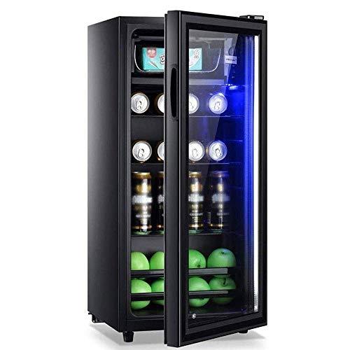Boissons Cooler avec porte en verre et Led Lumière, boissons Cooler et réfrigérateur, mini-réfrigérateur Porte en verre, Petit Beverage Cooler - Double couche de verre Pen, pouces H44 surdimensionné 8