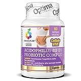 Colours of Life ACIDOPHILUS BIFIDO PROBIOTIC COMPLEX - Integratore di Probiotici per l'Equilibrio della Flora Intestinale, con Zinco per la Funzione del Sistema Immunitario - Senza Glutine e Vegano