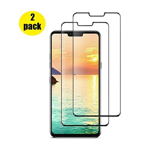 LPCJ Protector de Pantalla LG G8 THINQ, [2 Piezas] Cristal Templado, [Cobertura [Dureza 9H] [Alta Definición ],Protector Pantalla para LG G8 THINQ