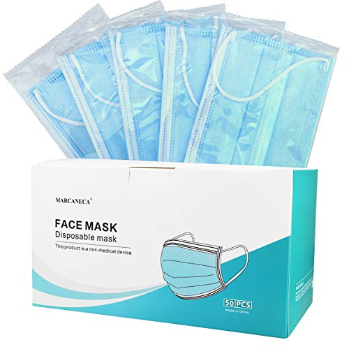 Face Mask,2000 Pcs Disposable Individual Package Portable Masks, Thick 3-Layer Filter Masks