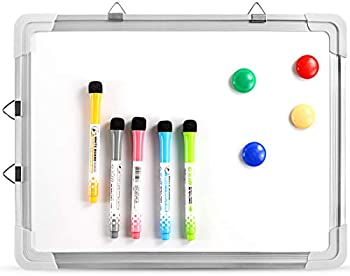 2-Pack Magnetic Portable Hanging Whiteboard Easel for Wall w/Markers