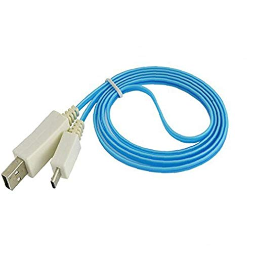 Rrunzfon Azul USB Ligero Visible del LED Micro Cargador de Datos Cable de sincronización para los Accesorios componentes HTC Samsung S3 S4 informáticos