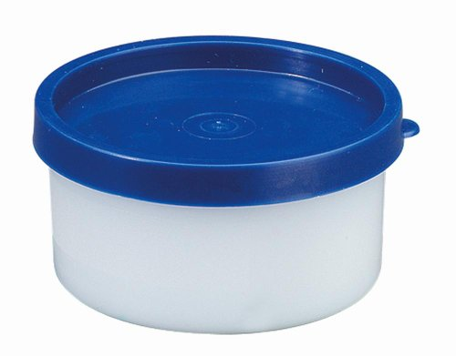 Westmark Kräuterdosen-Set, 4-teilig, Volumen je 100 ml, Kunststoff, Rund, Ø 8,3 cm, Trio, Transparent/Blau, 25742270