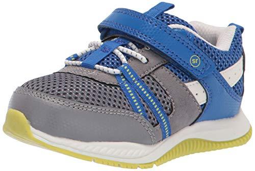 Stride Rite 360 boys Blitz Running Shoe, Grey/Blue, 11 Toddler US