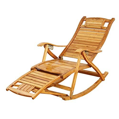 PNYGJZDY Chinese Reclining Tuinstoel Recliner Outdoor Relax-Chair Houten schommelstoel Zonnestoelen Verstelbare Deck Stoelen Opvouwbare Zonnebank voor Yard Pool