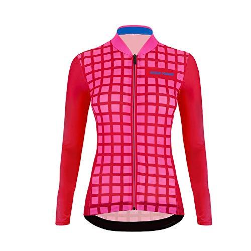 Sports Wear UGLYFROG Manga Larga Maillot Ciclismo Mujer,Maillots de Bicicleta Conjunto de Jersey de Manga Larga Top MTB Jersey Invierno Fleece Clothing