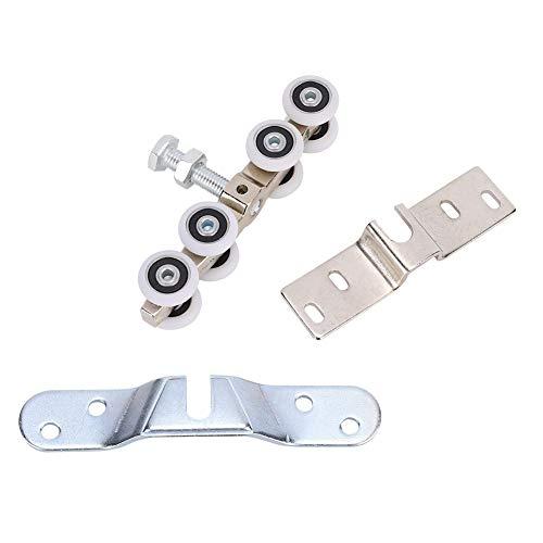 Topincn Schuifdeur-rol praktische hangende wieldeuren flessenrol voor hoofdslaapkamer-vergaderkamer-wandkast meermarage verpakking