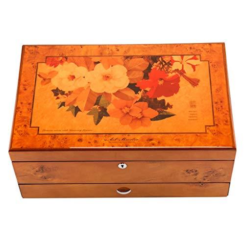 Hong Yi Fei-Shop Caja joyero para Mujer Pintura de Piano Caja de joyería Pulsera Collar Anillo Reloj Caja de Almacenamiento Regalo de Boda Jewelry Box