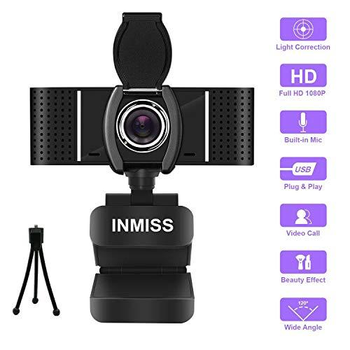 Anivia Full HD Webcam 1080P mit Mikrofon Kostenlose Stativabdeckung Folie - 120 ° Weitwinkel-Webcams Streaming USB-Webkamera - Pro-Computerkamera für Videoanrufe, Skype, OBS, PC-Laptops