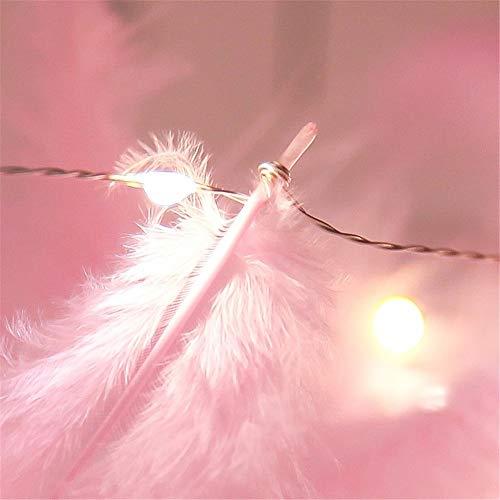 Federn Lichterketten, Led-Streifen Fairy String Light Für Hochzeit, Party, Schlafzimmer, Garten, Terrasse, Spielzelte, Indoor