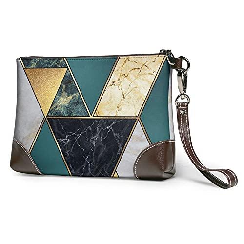 XCNGG Bolso de mano con estampado de mármol de rayas doradas abstractas, bolso...