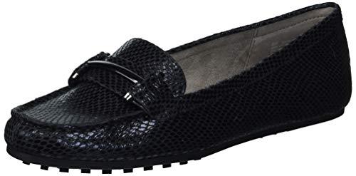 Aerosoles Women's Flat Driving Style Loafer, Black Snake, 6.5 Wide