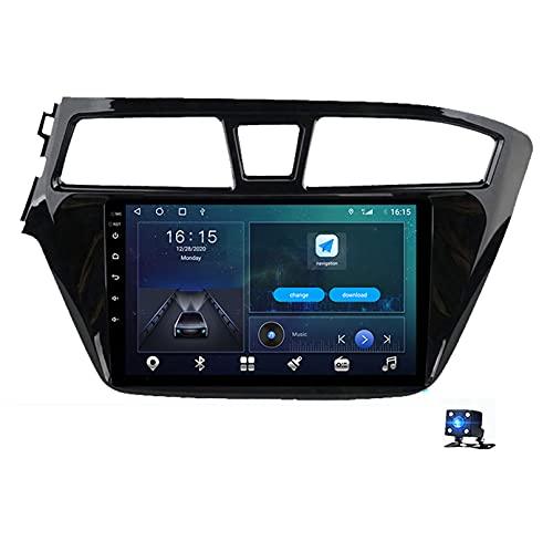 9'Android 10.0 Car Radio 2.5D Reproductor De Pantalla Táctil, Para Hyundai I20 2015-2018 Soporte Navegador GPS Bluetooth WIFI Reproductor Multimedia Navegación Estéreo Autoradio(Color:WIFI 4G+64G)