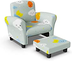 Homasen Kids Couch with Ottoman, Kids Sofa for Kids Girls Boys Bedroom Classroom Playroom