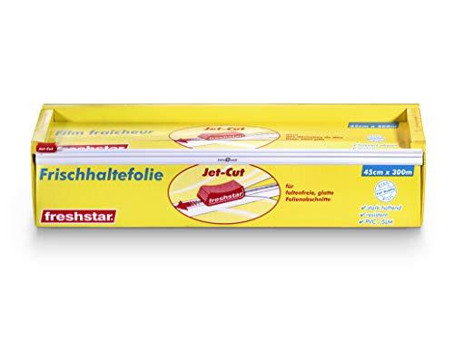 Jet-Cut Frischhaltefolie zum Schneiden, Gastronomie 45cm x 300m – extra breit, PVC transparent, 1 Stück
