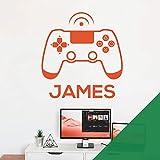 Wandaufkleber für Spielkonsole, Game Controller – Xbox, Playstation, personalisierbar, mit Namen [Wiese ]