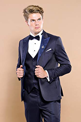 Wessi Slimfit Hochzeits-Smoking Tuxedo, Azul, 50 Mens