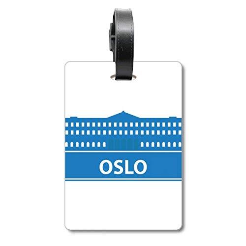 Oslo Norway - Etiqueta de identificación para Maleta de Crucero, Color Azul