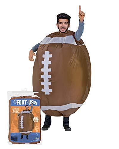 Aufblasbares Kostüm American Football | Ausgefallenes Auflbaskostüm | Premium Qualität | Größe Erwachsene | Polyester | Angenehm tragbar | Resistent | Mit Aufblassystem | Von OriginalCup®