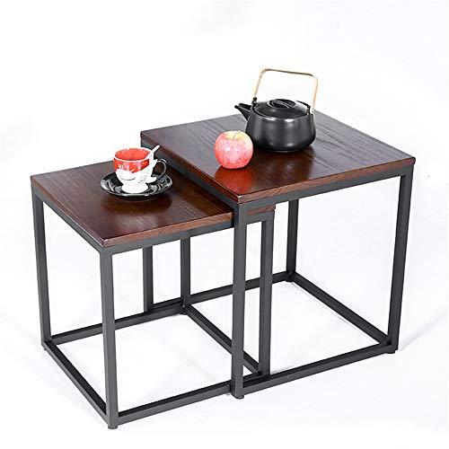 Tatami Tea Table Home Soggiorno Legno massello Tavolino Combinazione Quadrato Tatami Tavolino Divano Tavolino Semplice Mini Tavolo Studio Piccolo Tavolo (Colore: multicolore, Dimensioni: 55x55x55cm)