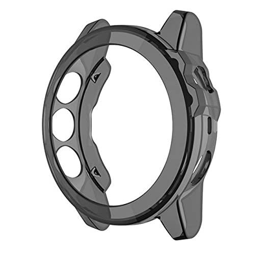 Funda protectora de TPU suave para Garmin Fenix 6 6s 6x Pro Watch Protector de pantalla para Fenix5 5x 5s Plus película de vidrio flexible MingYuChangHu (color: negro, tamaño: Fenix 5x 5xPlus)