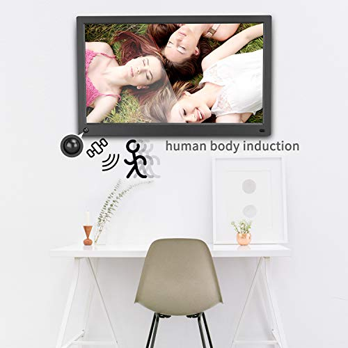 MRQ 15.6 Inch Digital Picture Frame Native 1080P Display Photos with Auto-Rotate,...