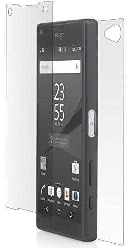 Sony Xperia cabling® Z5 Compact-delantero trasero-Protector de pantalla de cristal templado ultra resistentes Glass Screen Protector