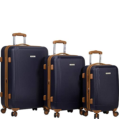Dejuno Legion 3-pc Hardside Spinner TSA Combination Lock Luggage Set, Navy, 3-Piece
