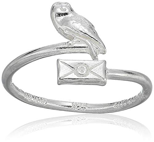 Alex and Ani Womens Harry Potter Owl Post Ring Wrap, Sterling Silver