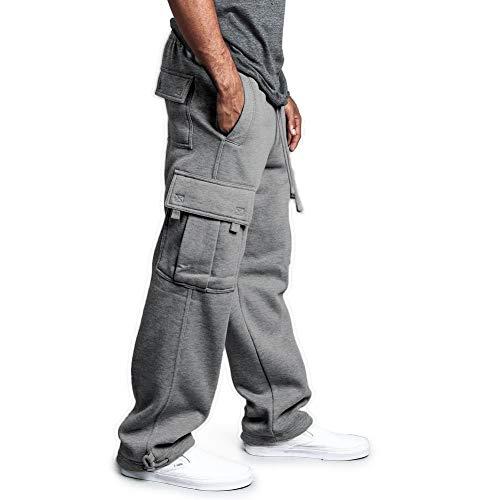 acelyn Mens Jogging Bottoms Pants Fleece Cargo Baggy Joggers Sweatpants...