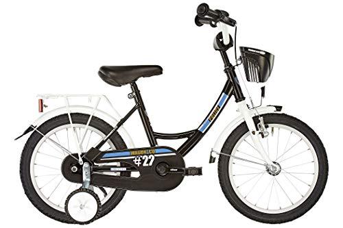 Vermont Kinder-Fahrrad City Police 18 Zoll | 1-Gang-Kinder-Rad, Stützräder, Klingel und Fahrradkorb