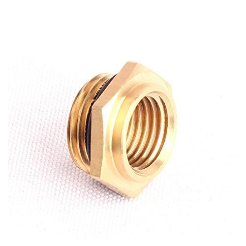 Qingn-Manguera de latón 3pcs 100% latón M18 a M14 con rosca for manguera accesorios de tubería Conector for riego, riego de jardín Adaptador pulverizador Conexión rápida (Diameter : M18 to M14)