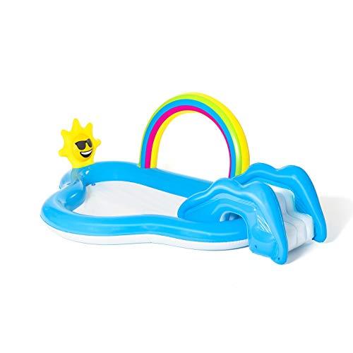 Bestway 53092 Wasserspielcenter mit Planschbecken Rainbow n' Shine 257 x 145 x 91 cm, Color