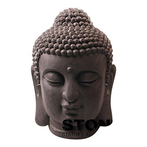 Stone-Lite Drop 1526 MZ Tête de Bouddha Statue d'emballage Mail-Order, Noir, 31 x 30 x 42 cm
