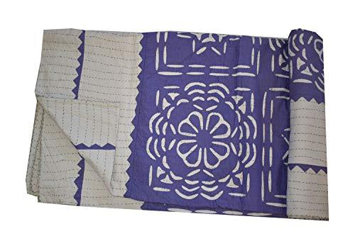 Tribal Asian Textiles Tagesdecke, handgefertigt, 100 % Baumwolle, Schnittmuster