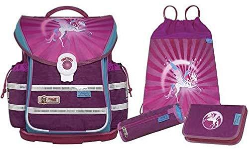 MC Neill Set de Sacs Scolaires, Rosa/Violett (Multicolore) - 9606141000