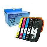 caidi 5 x Compatible para Epson 33 X L Cartuchos de tinta Compatible con Epson Expression Premium XP-530 XP-630 XP-635 XP-830 xp-640 xp-900 xp-540 xp-645 Pirnte