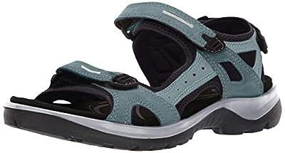 ECCO, Women's Yucatan Outdoor Sandal, Trellis/Eggshell Blue, 7-7.5 Medium US