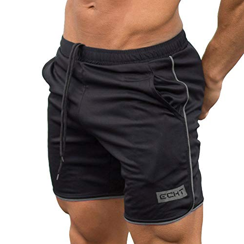 AIchenYW Men's Sports Shorts, Comfortable Sports Basketball Training Breathable Five-Point Pants Workout Fitness Gym Shorts Gray