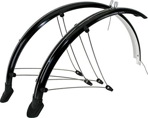 P4B | 20 Zoll Fahrrad Schutzblech Set in Schwarz | 56 mm Breite | Mit elektronischen Kontaktstreifen
